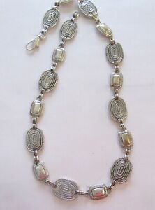 """Woman's Chain belt- silver color -oval & rectangular links -trigger hook- 31"""""""