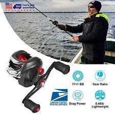 17+1 BB 7.1:1 Baitcasting Fishing Reel High Speed Gear Ratio Up to 17.5 LB Drag