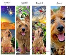 Australian Terrier Bookmark- 3 Set -Dog Red Silky Yorkie Book Card Art Figurine
