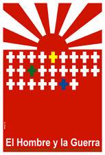 Movie Poster for japanese film El hombre y la guerra.Room art decoration design