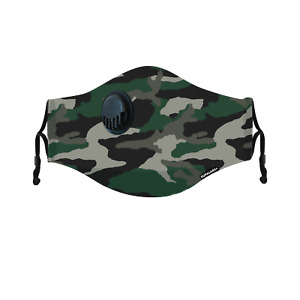 SUPALABS Hero Face Mask Premium Covering 5 layers protection + valve - Army Camo