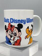 Mickey Minnie Goofy Donald Pluto Disney World Mug Fab Five
