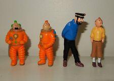 LoT Série de 4 figurines TINTIN Hergé publicitaire LU Haddock Dupont Vintage