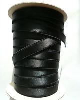 Bra Making. Strap Elastic, Satin Semi Sheen. Plush Back. 12mm Wide. Black