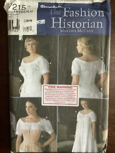 New Factory Folded SIMPLICITY Misses Corset & Chemise Pattern 7215 Size 6-12