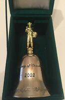 Godinger Silver Christmas 2002 Drummer Boy Bell Silver Plated With Box (a5)