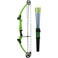 Genesis Archery 10933 Original Green Compound Training Bow Kit, Left Handed