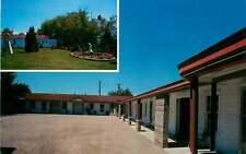 Roadside Postcard Johnson's Motel, Cheboygan, Michigan - circa 1950s-1960s