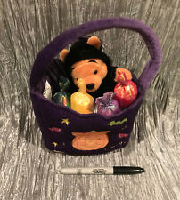Disney Winnie the Pooh Halloween Plush Bat Pooh & Candy Bag Purple Orange