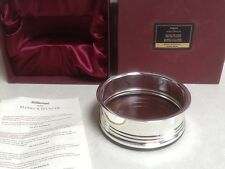 Vintage St Michael M&S Silver Plated Bottle Coaster, Gift Boxed BNWT