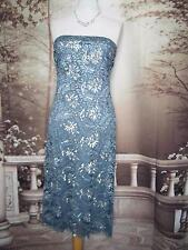 PHASE EIGHT Dress 12 Beads&Sequins Blue Lace Evening/Gatsby/Downton Flapper?