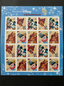 2003 THE ART OF  DISNEY FRIENDSHIP, 37ct Sheet, 20 SELF ADHESIVE stamps, MNH
