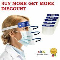 Face Shield Full Face Visor Protection ppe Transparent Clear Plastic UK Shld-A
