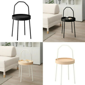 IKEA BURVIK Side Table & Desk For Coffee Storage Round Small Home Stool 38cm