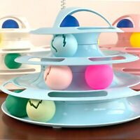 kitty 4-LAYER TRACK ROLLER PLAY BALL PUZZLE TOWER INTERACTIVE TOY PET SUPPLIES