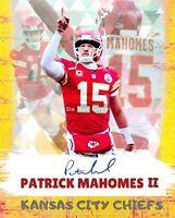 Patrick Mahomes II KS Chiefs  8x10 Cracked Ice Wall Art. 2020 Super Bowl MVP