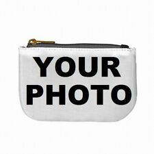 Coin Purse Womens Small Zip Pouch Bag Custom Personalized Picture Photo Logo