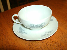 Vintage Limoges GDA Porcelain Tea Cup and Saucer Set 1900-1953 France