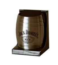 JACK DANIEL'S STAINLESS STEEL BARREL SHOT GLASS 8488JD OFFICIALLY LICENSED