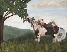 """ Trust"" Gypsy Horses 2 ~ Gypsy Vanner , Cob  8X10 Print"