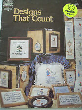 1979 Designs That Count Cross Stitch Pattern Book Frog Baby Boy Puppy Mouse Pull