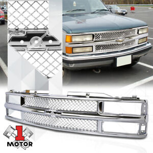 Chrome ABS Classic Mesh Grille/Grill for 94-00 Chevy C10 Suburban/Blazer/Tahoe