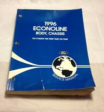 1996 FORD ECONOLINE BODY CHASSIS REPAIR SERVICE MANUAL FOR MECHANICS OEM