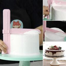 Adjustable Icing Piping Cream Spatula Edges Smoother Fondant Cake Scraper Tool