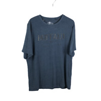 Buffalo David Bitton Mens Graphic T Shirt Size XXL Solid Blue Logo Spell-out Tee