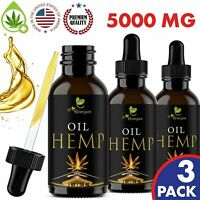 Premium Hemp Oil Extract for Pain Relief, Stress, Sleep - 5000 mg 3 Pack