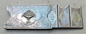 NO RESERVE c1890 Ellis Howell Victorian Needle Case Book Holder Vintage Antique