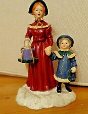 Mervyn's Village Square Figurines; Mother and Daughter