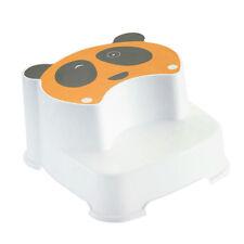 Dual Height Step Stool Kid Booster Stool Toilet Anti-slip Bath Stools Yellow