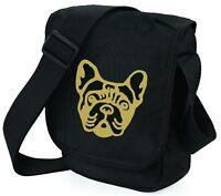 French Bulldog Bag Mini Reporter Dog Walker Shoulder Bags Face of Frenchie Gift
