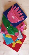 Quiet book,libro sensoriale,attività montessori,morbido libro tattile fatto a...