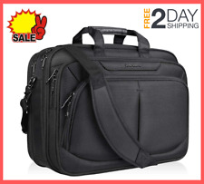 17.1 inch Laptop Bag Briefcase Water-Repellent, Expandable for School Travel