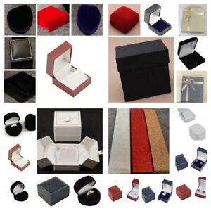 Gift Box Ring Earring Bracelet Watch Bangle Heart Glitter Velvet Christmas Wrap
