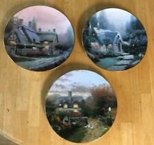 Lot of Three Thomas Kinkade Garden Cottages of England Collector Plates!