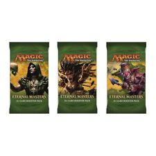 Magic Mtg ETERNAL MASTERS Factory sealed Booster Pack X 3 !