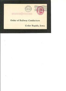 "al Card UX24 Pre Printed ""Order of Railway Conductors"" pmk 8-10-1915"