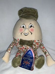 "Vintage Merry Thought Humpty Dumpty Harrods England 12"" Velveteen Plush W/ Tag"