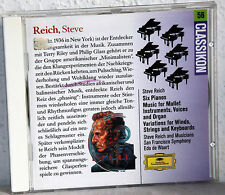 CD STEVE REICH - Six Pianos-Musical for Maillet Instruments