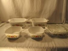 Lot Of Corning Ware Spice of Life 6 Pieces Baking Dishes
