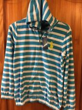 Brand New Tags Girls Ralph Lauren Hoodie Zipper Age 16 Blue Striped
