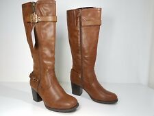 size 9 White Mountain Dover Cognac Knee High Boots Heel Womens Shoes