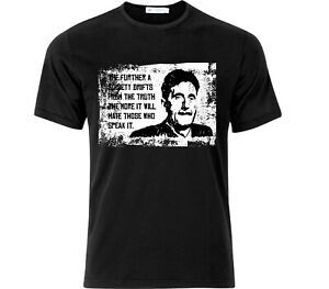 George Orwell Quote T Shirt Black