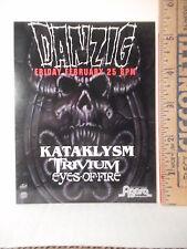 Danzig Cleveland Ohio Agora Concert Advertising Card  Misfits Samhain  213OF.