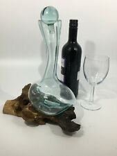 Unique Wine Decanter~Molten Glass On Root Wood~Gift