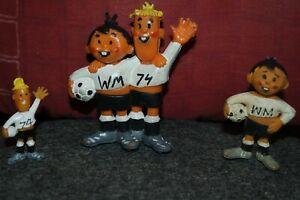 WM 1974 Tip Tap Maskottchen Figuren
