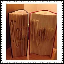 Nan Heart. Folded Book Art Folding PATTERN ONLY #1221
